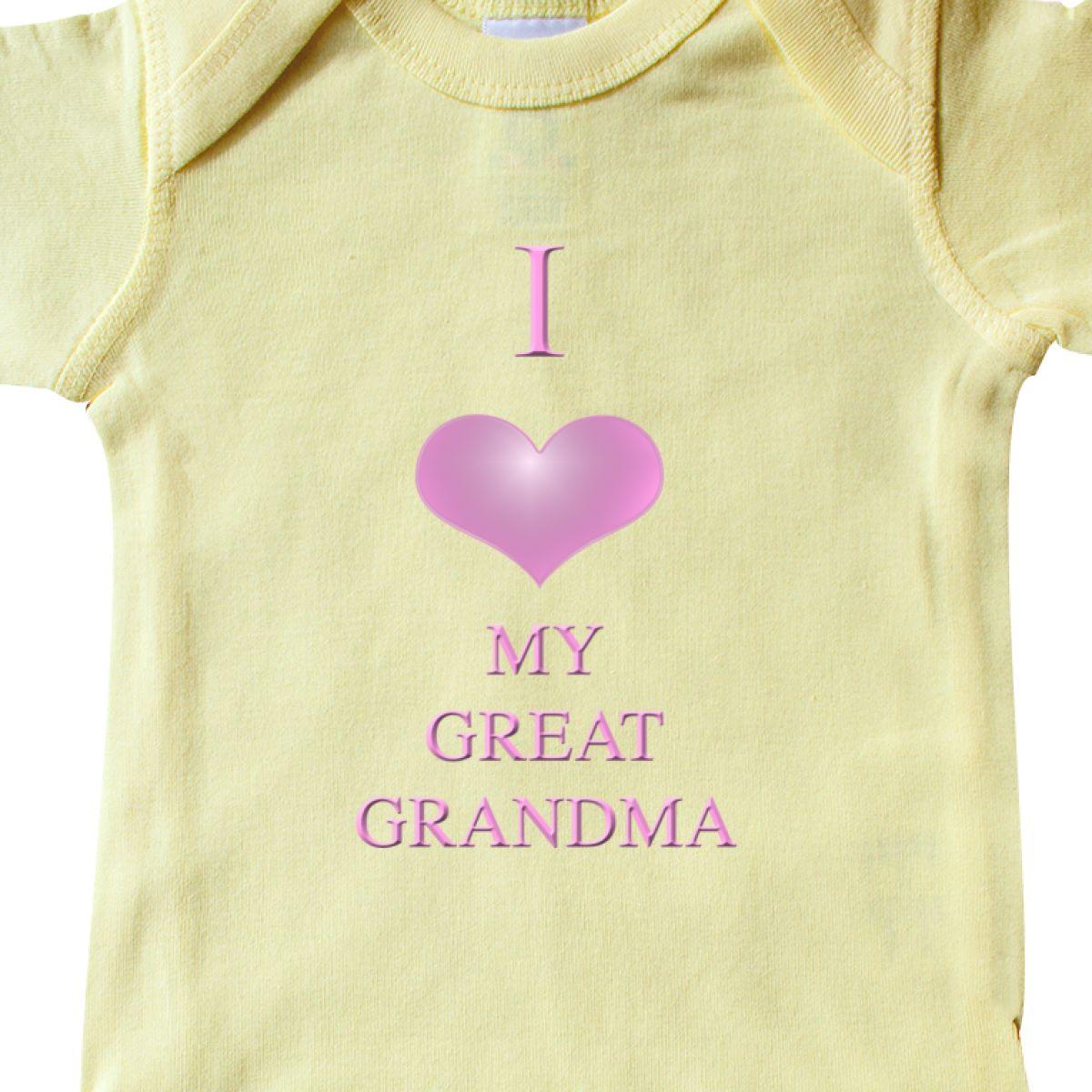 Inktastic I Love My Great Grandma Infant Creeper Heart One Piece Ebay