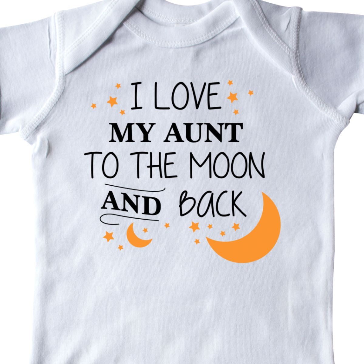 4db9aedbb INKtastic I Love My Aunt to The Moon and Back Infant Creeper Family ...