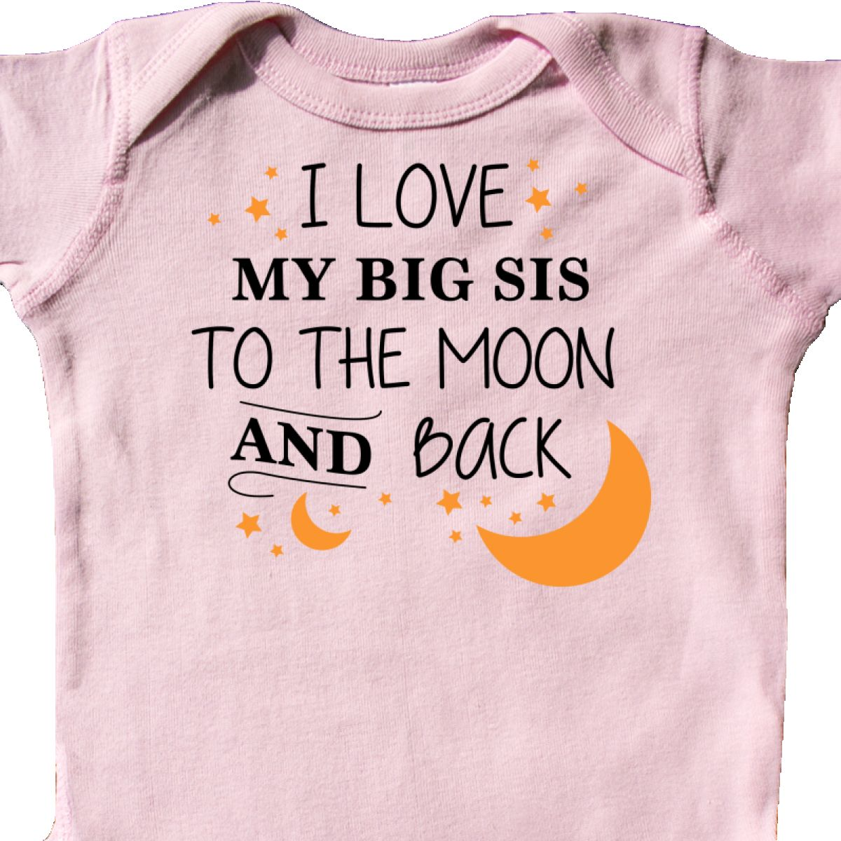 Inktastic I Love My Sisters To The Moon And Back Infant Creeper Family You Stars