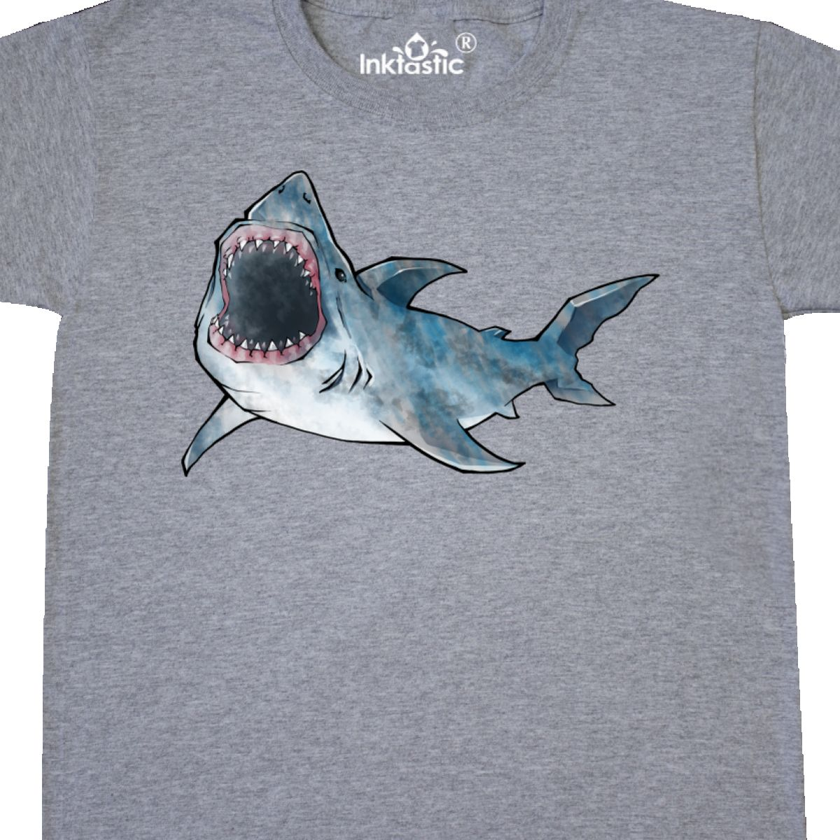 02363996 Inktastic Great White Shark Youth T-Shirt Sharks Love Bruce Jaws ...