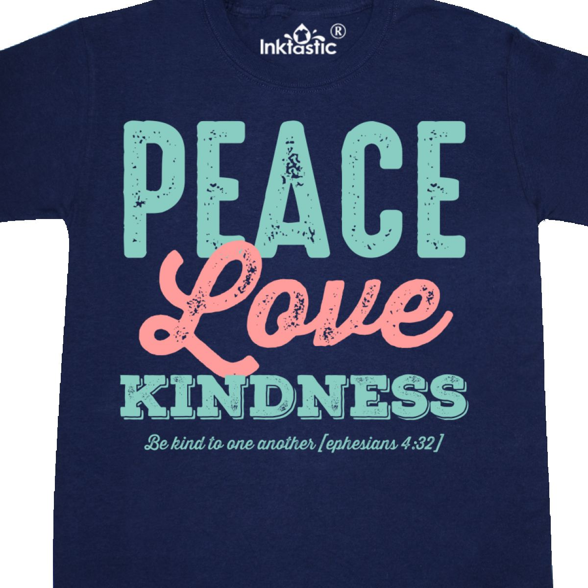 Inktastic Peace Love Kindness Youth T Shirt Ephesians 432 Bible