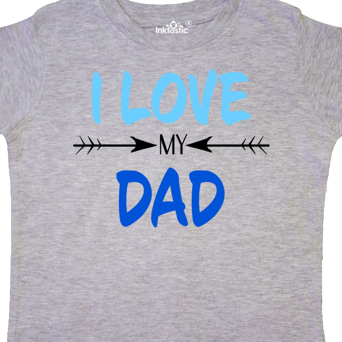 7af3b606 Inktastic I Love My Dad Fathers Day Toddler T-Shirt For Kids Father ...