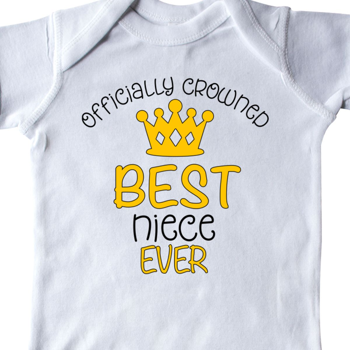 inktastic Officially Crowned Best Niece Ever Gold Crown Toddler T-Shirt
