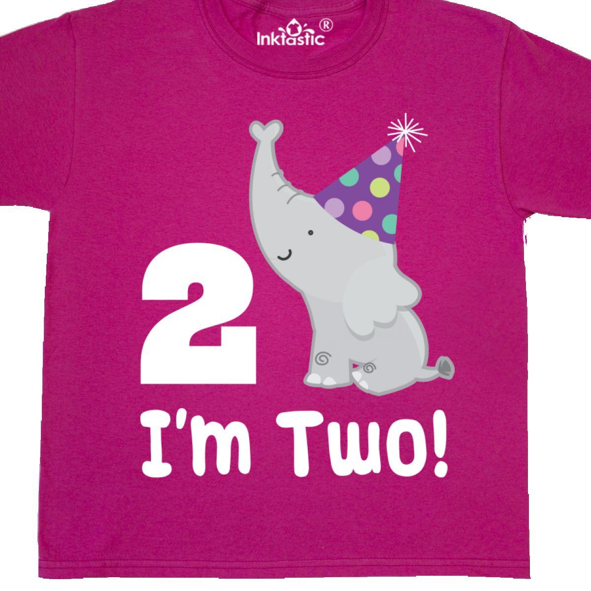 Inktastic Happy 2nd Birthday Zoo Elephant Youth T