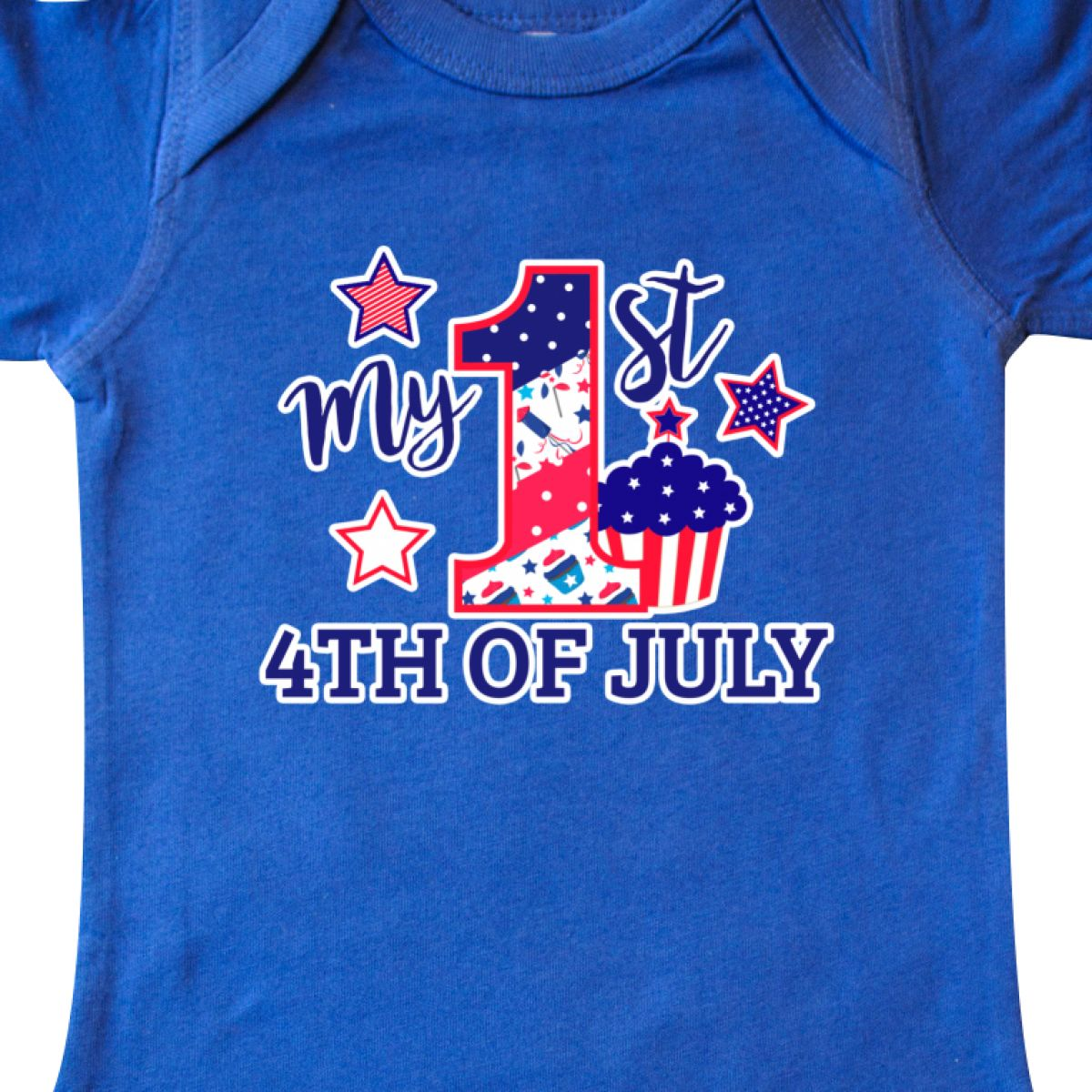 Inktastic-My-1st-4th-Of-July-With-Stars-And-Cupcake-Infant-Creeper-Fourth-Kids thumbnail 14