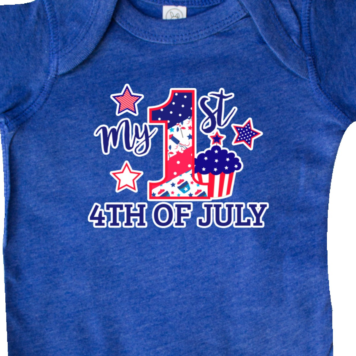 Inktastic-My-1st-4th-Of-July-With-Stars-And-Cupcake-Infant-Creeper-Fourth-Kids thumbnail 10