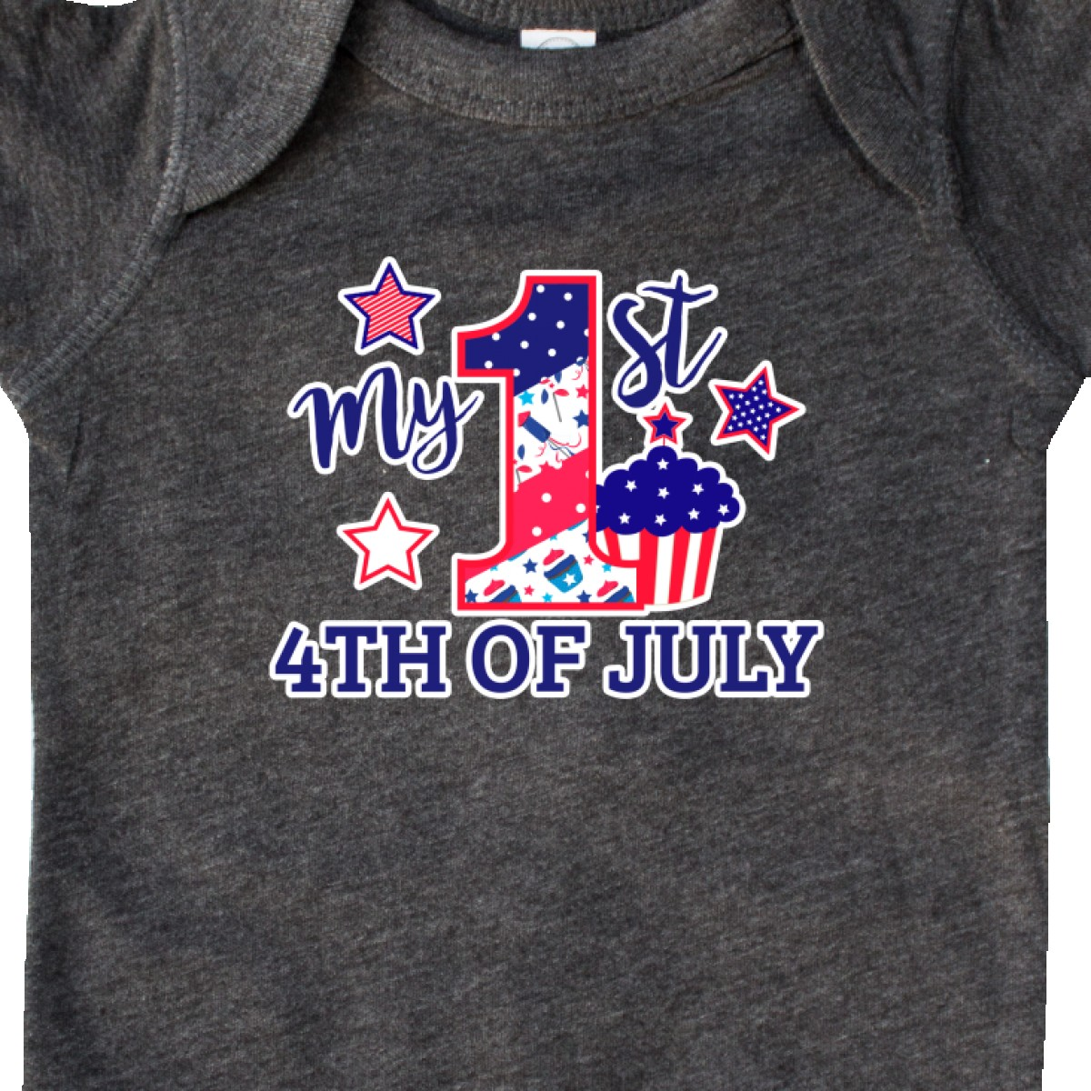 Inktastic-My-1st-4th-Of-July-With-Stars-And-Cupcake-Infant-Creeper-Fourth-Kids thumbnail 12