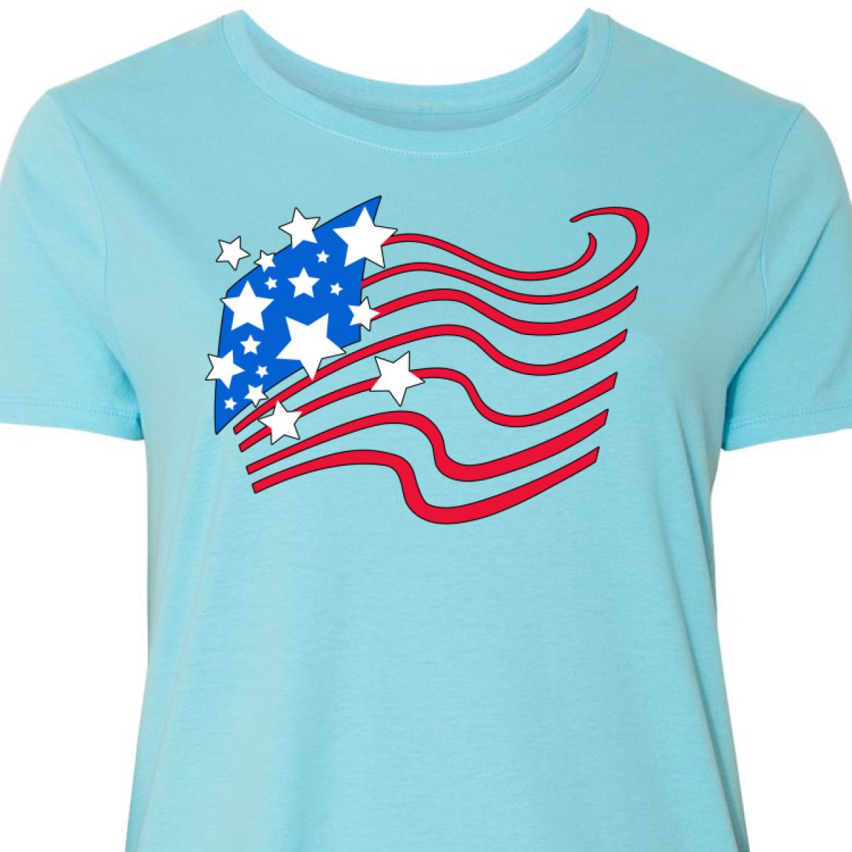 18a2ff5a2c1 Inktastic Stylized American Flag Fourth Of July Women s Plus Size T ...