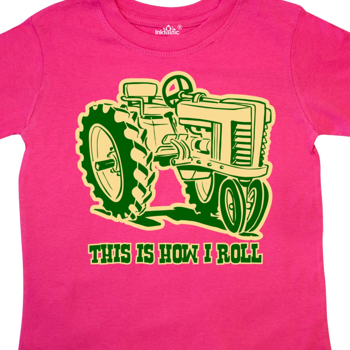 d41aa92c8 Inktastic This Is How I Roll Tractor GRN Toddler T-Shirt Green ...