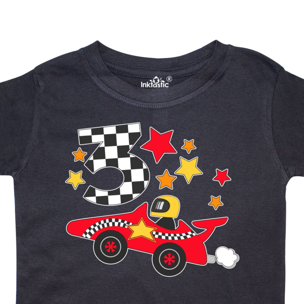 Inktastic Happy 3rd Birthday Red Racing Car Toddler
