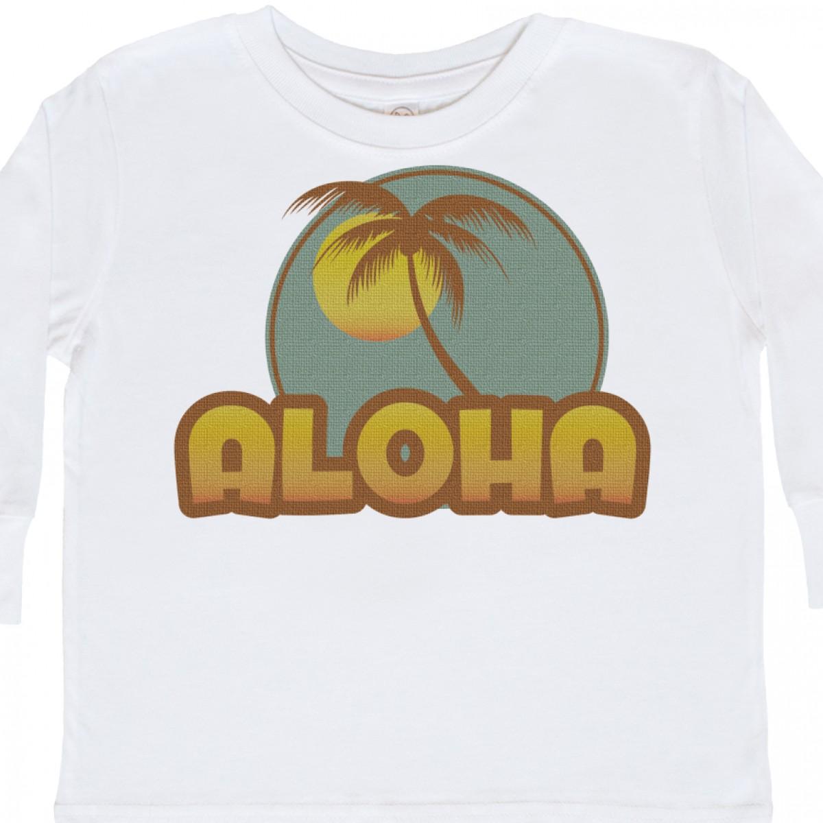 Inktastic-Aloha-Palm-Toddler-Long-Sleeve-T-Shirt-Hawaii-Hula-Island-Mahalo-Maui thumbnail 6
