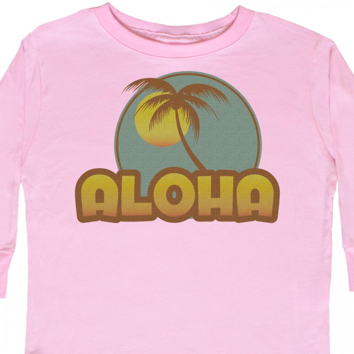 Inktastic-Aloha-Palm-Toddler-Long-Sleeve-T-Shirt-Hawaii-Hula-Island-Mahalo-Maui thumbnail 4