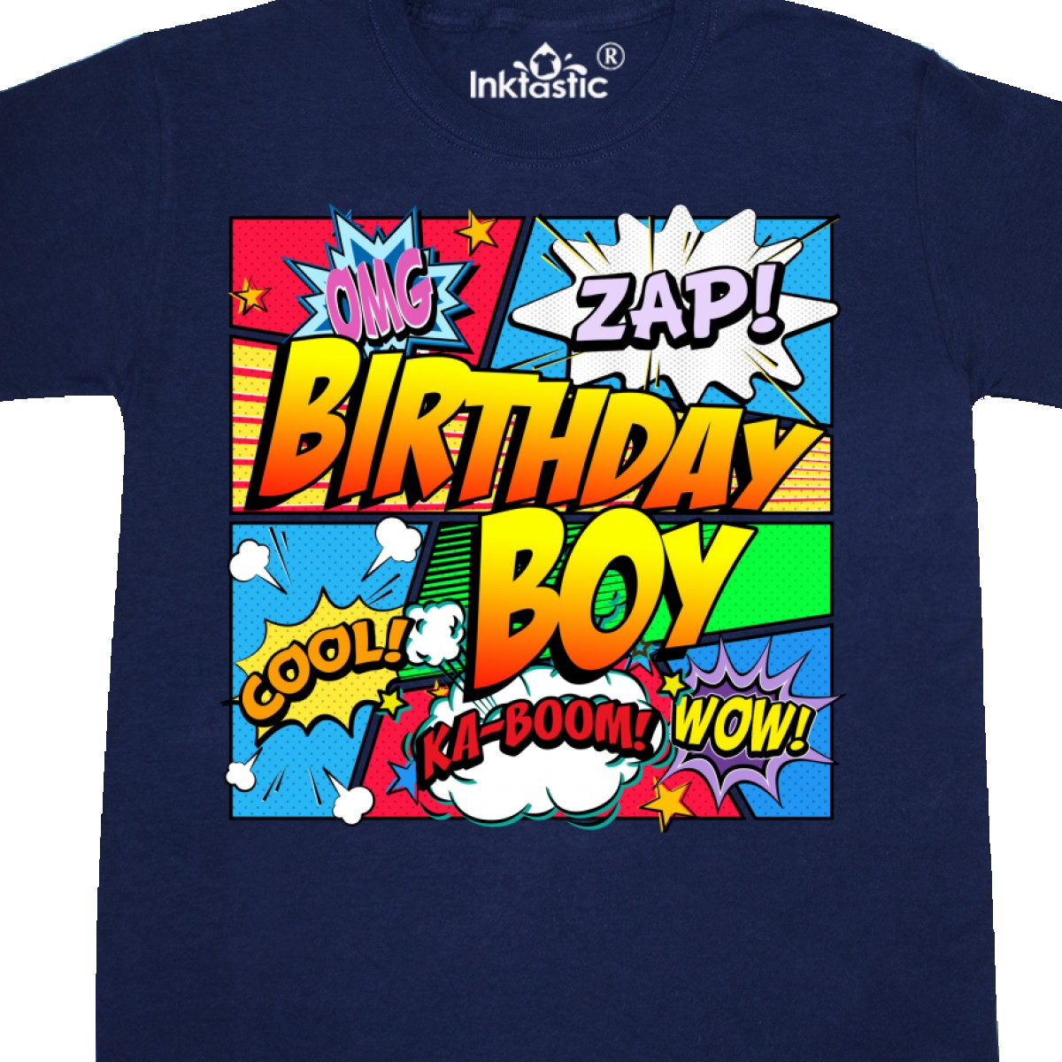 3d4340802 Inktastic Birthday Boy Comic Book Youth T-Shirt Superhero Tee Kids ...