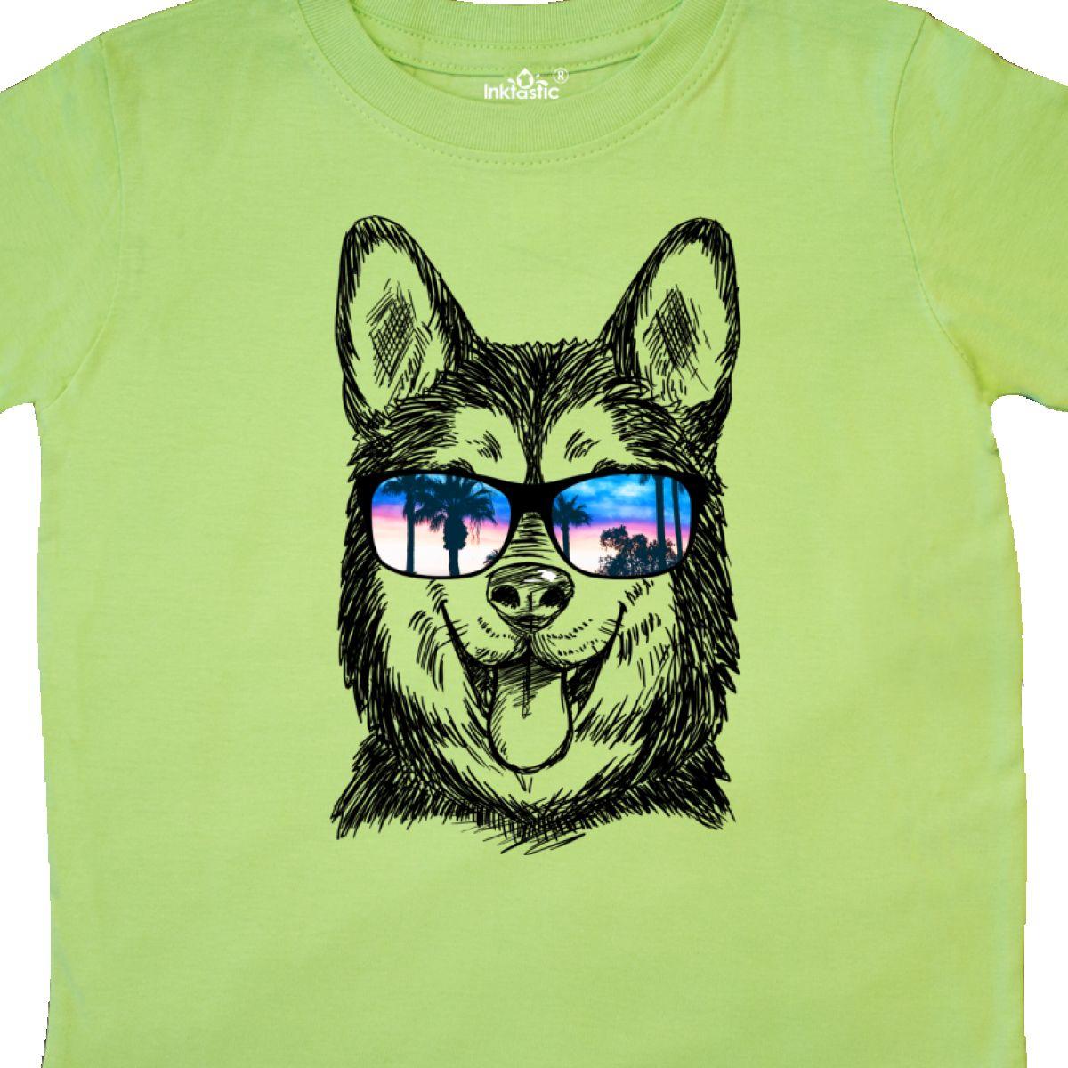 Inktastic Siberian Husky Sketch Portrait With Sunglasses Toddler T