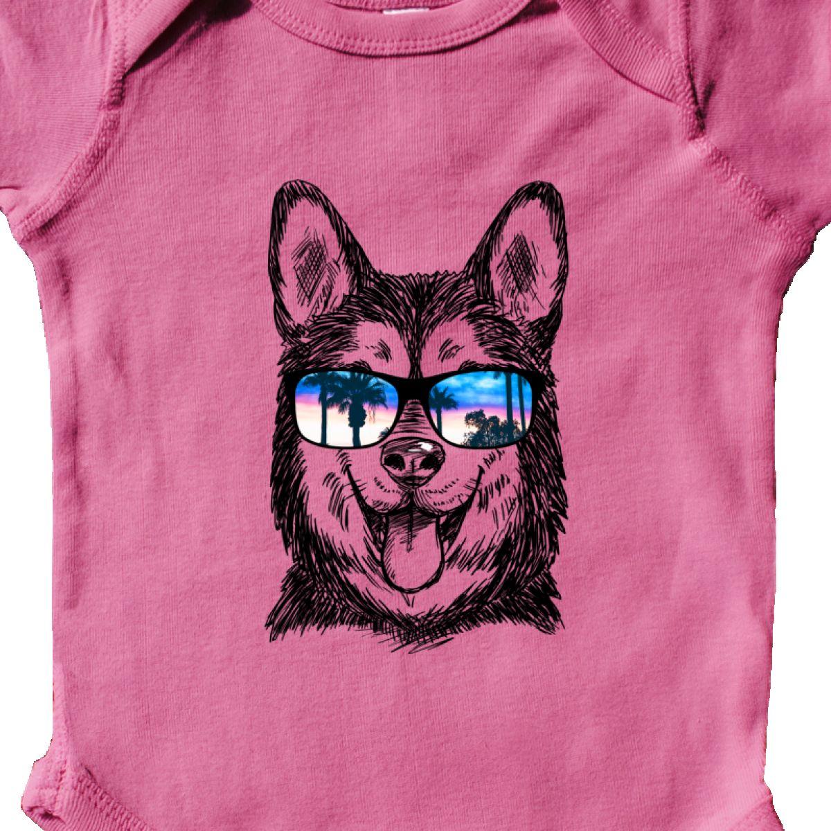 Inktastic Siberian Husky Sketch Portrait With Sunglasses Infant
