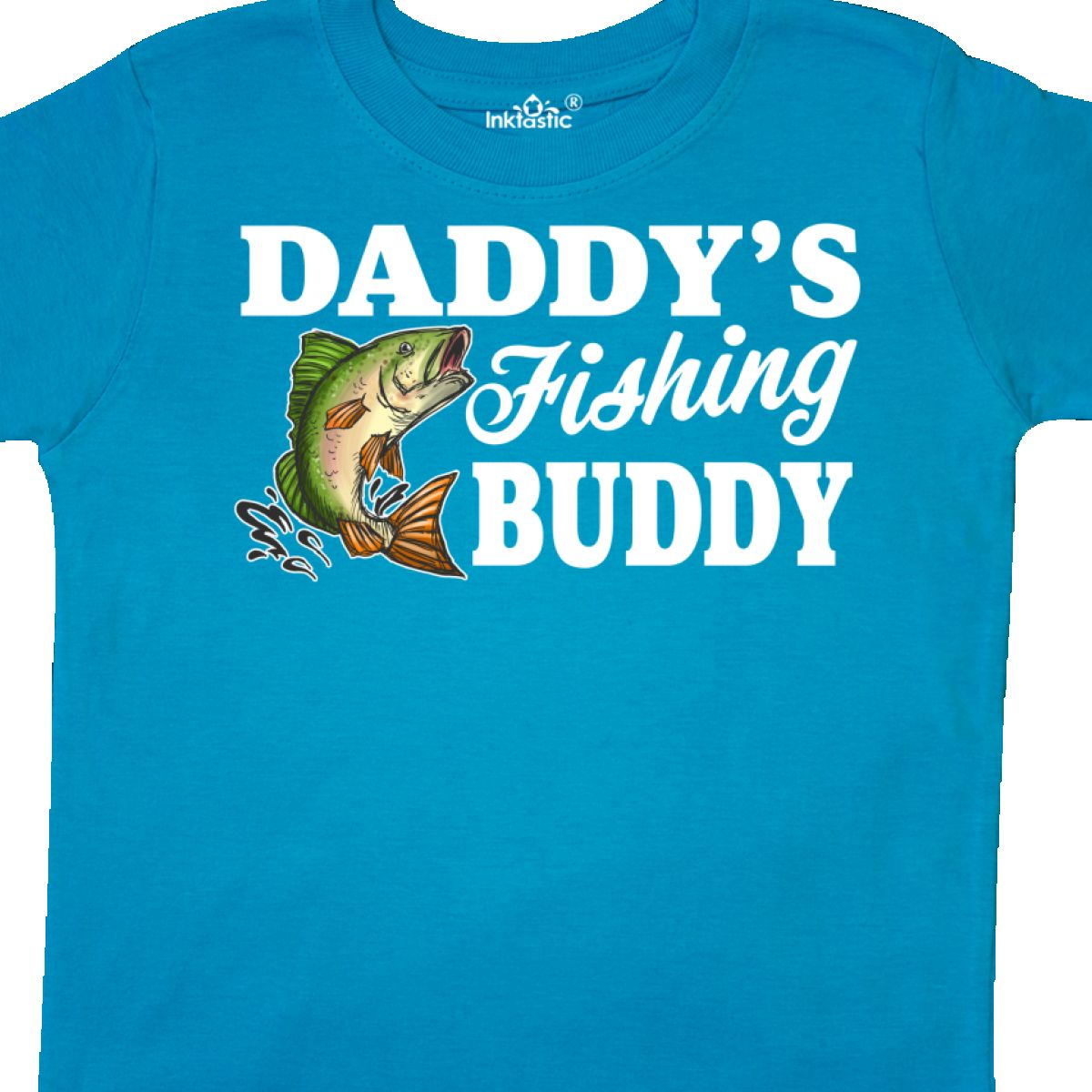 439d123934b8 Inktastic Daddy s Fishing Buddy With White Text Toddler T-Shirt Kids ...