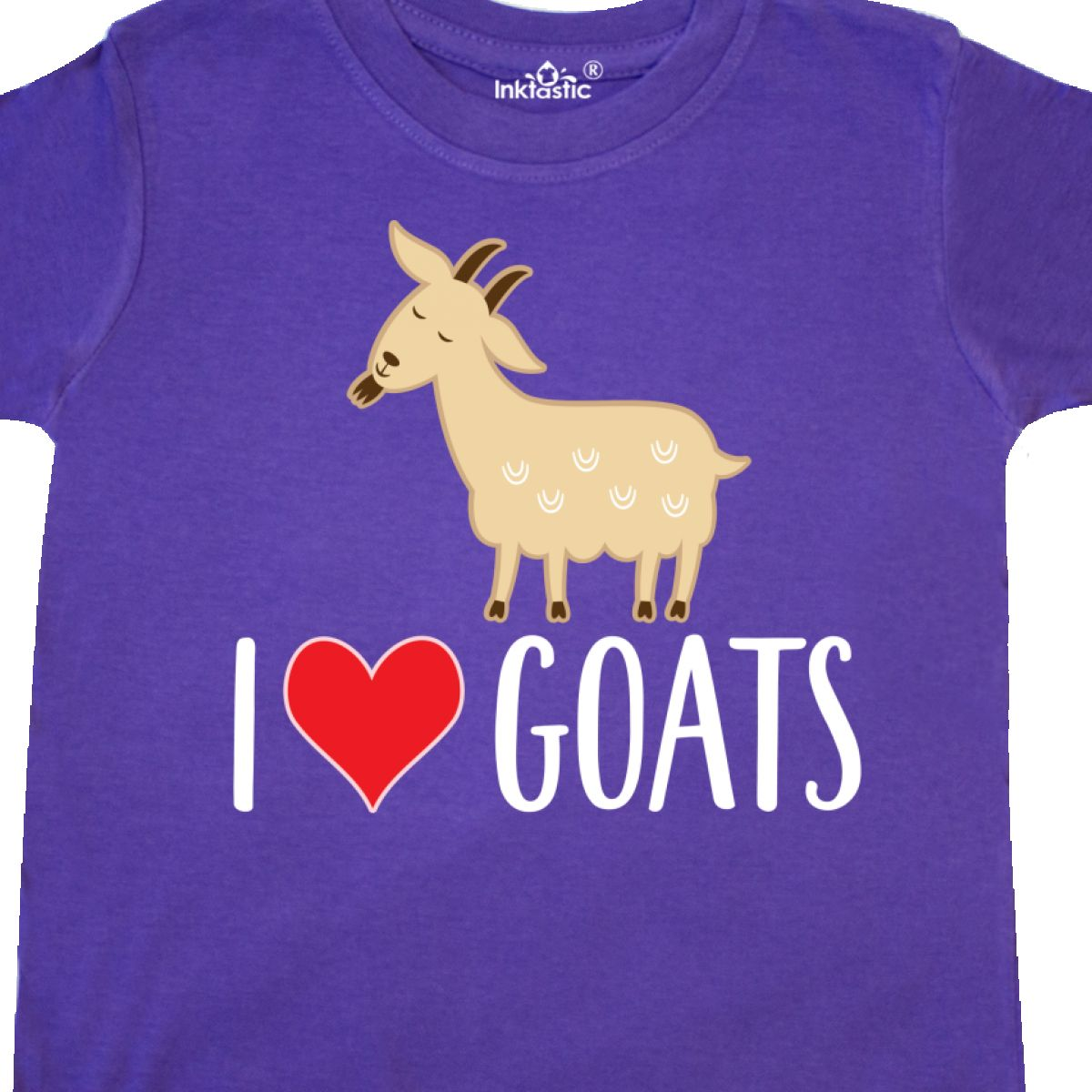 Inktastic-Goat-Cute-I-Love-Goats-Farm-Animal-Toddler-T-Shirt-Lover-Farmer-Gift thumbnail 12