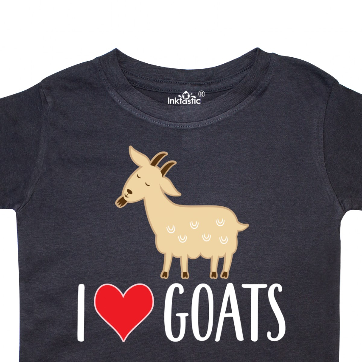 Inktastic-Goat-Cute-I-Love-Goats-Farm-Animal-Toddler-T-Shirt-Lover-Farmer-Gift thumbnail 4