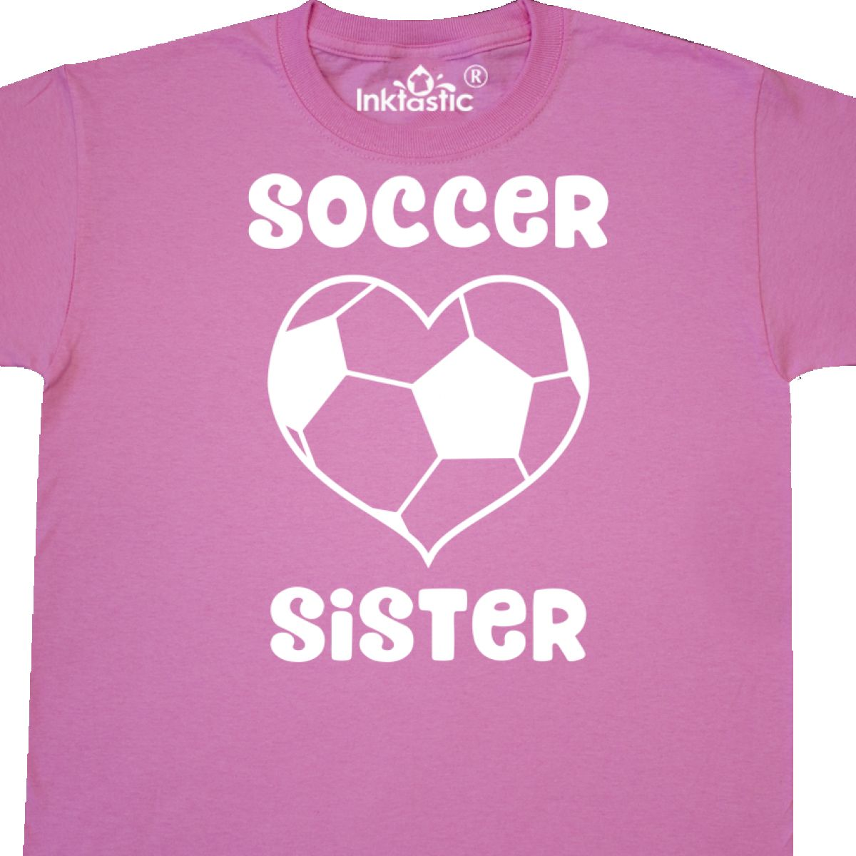 46d026737974a Details about Inktastic Heart Soccer Sister Youth T-Shirt Shaped Ball I  Love Funny Loud Proud