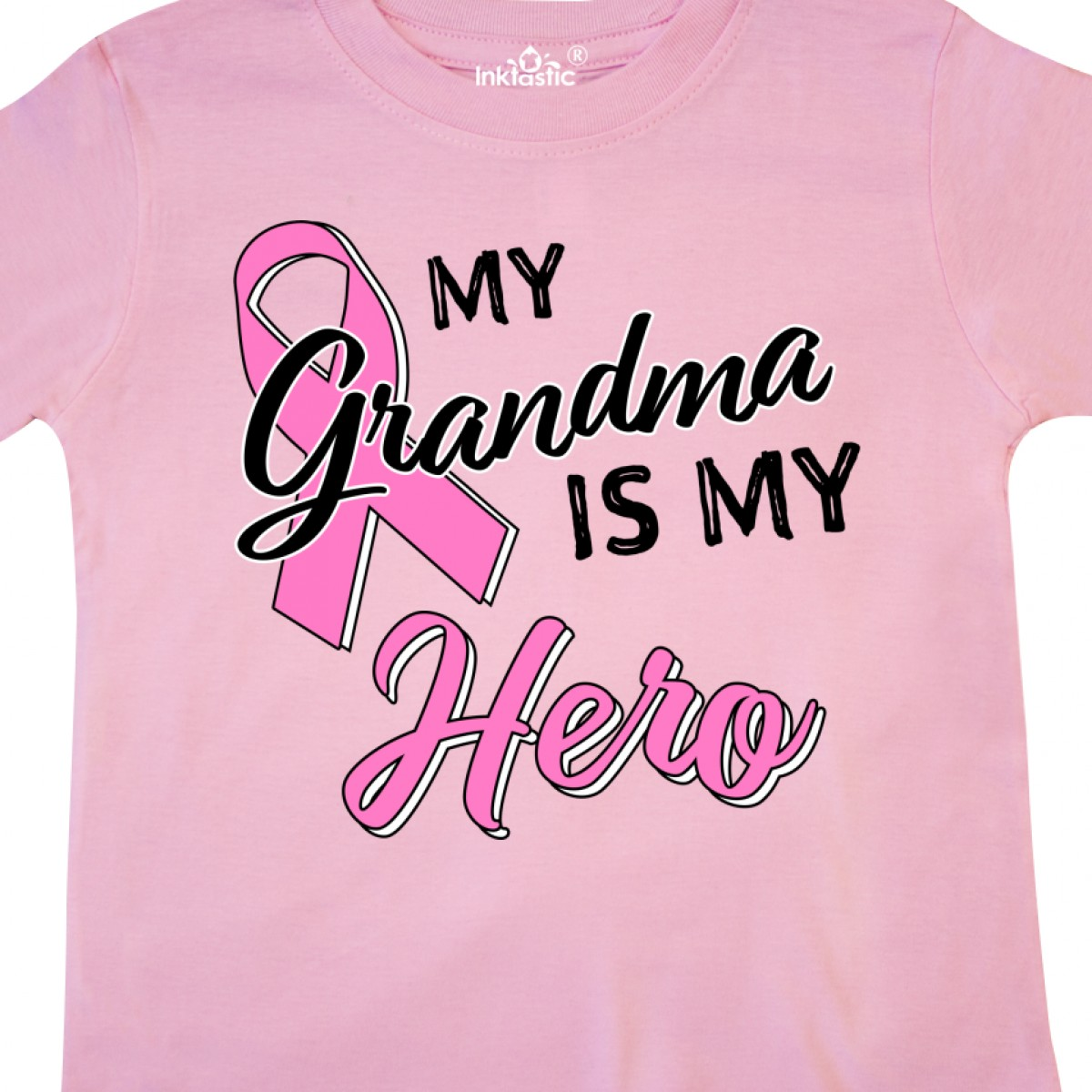 Inktastic-My-Grandma-Is-My-Hero-Breast-Cancer-Awareness-Toddler-T-Shirt-Pink thumbnail 6