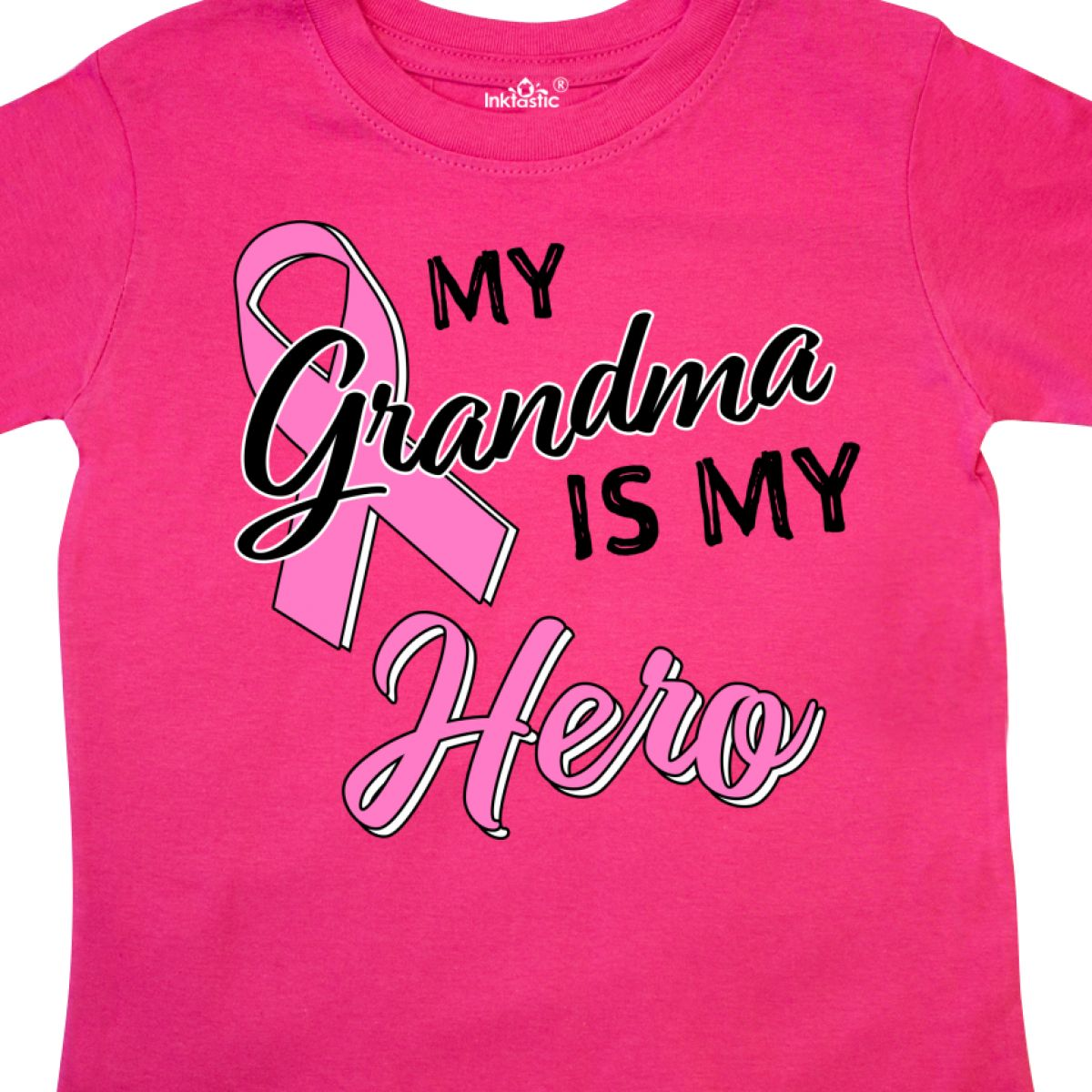Inktastic-My-Grandma-Is-My-Hero-Breast-Cancer-Awareness-Toddler-T-Shirt-Pink thumbnail 4