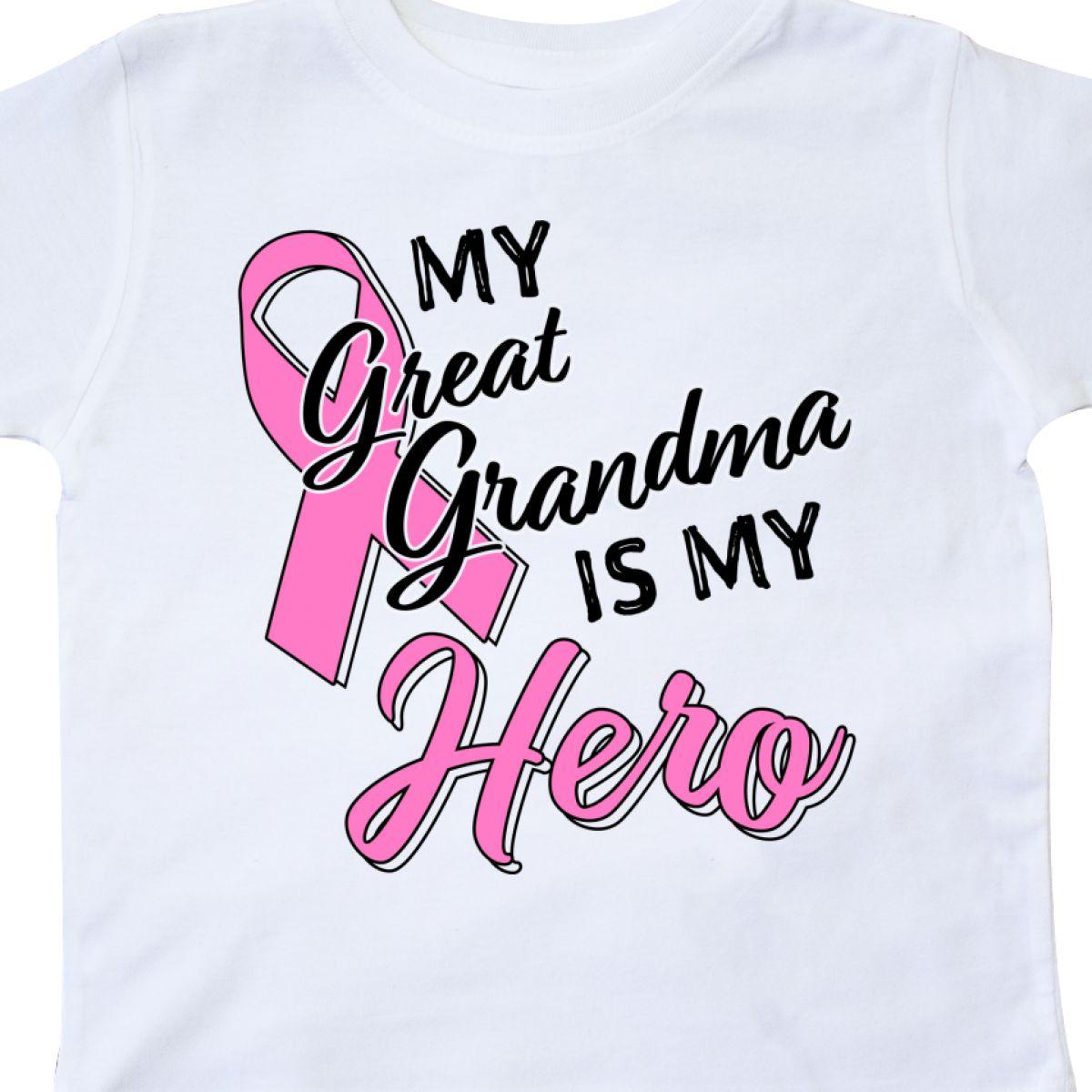 Inktastic-My-Great-Grandma-Is-My-Hero-Breast-Cancer-Awareness-Toddler-T-Shirt thumbnail 4