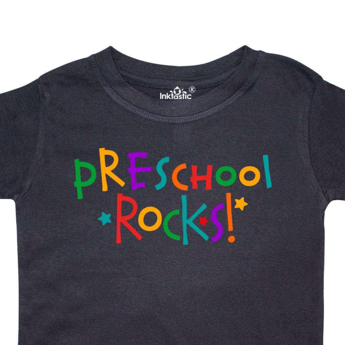 e07b1e0ceb Inktastic Preschool Rocks Toddler T-Shirt Pre-k Back To School Cute ...