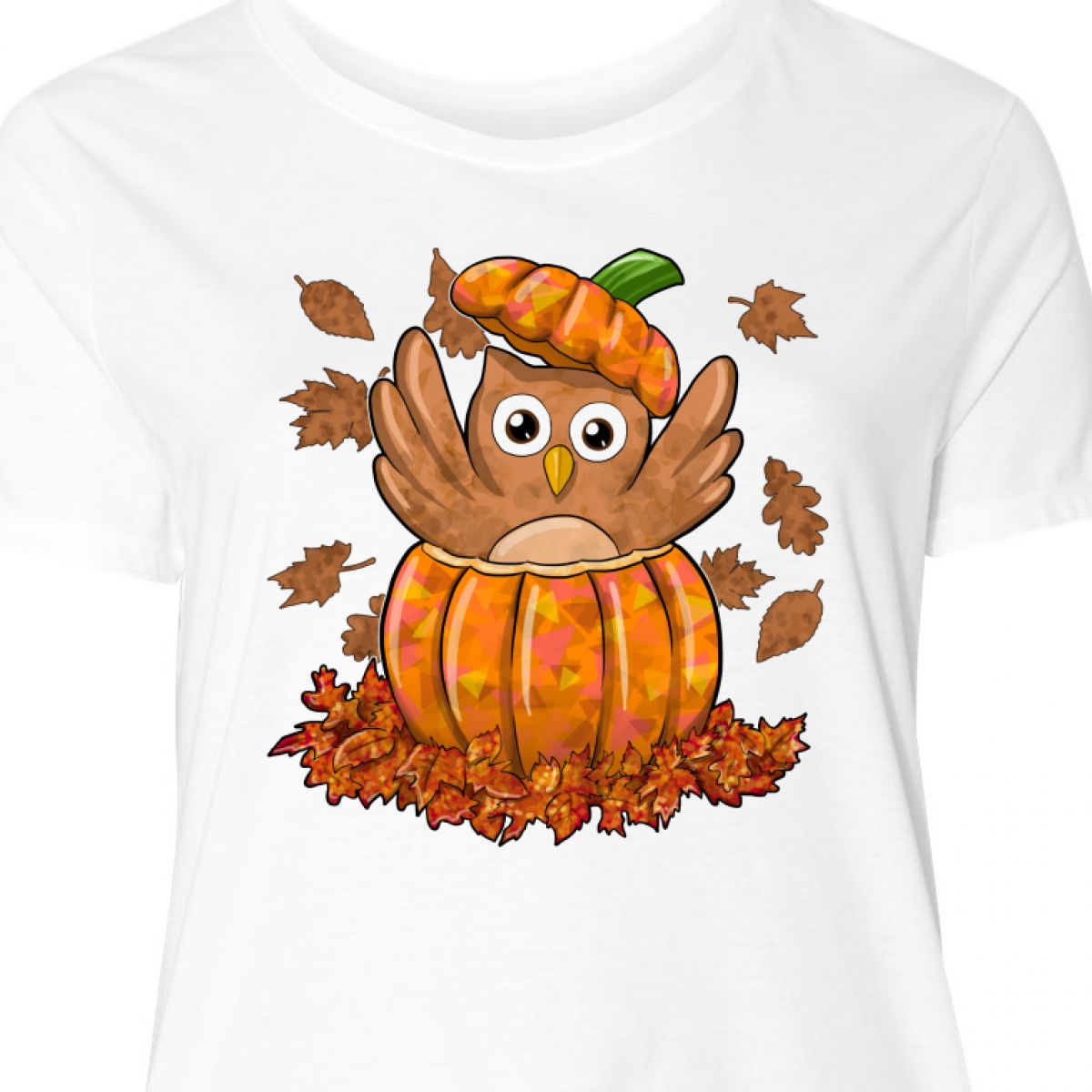 fef980828 Inktastic Owl In A Pumpkin- Cute For Halloween And Women's Plus Size ...
