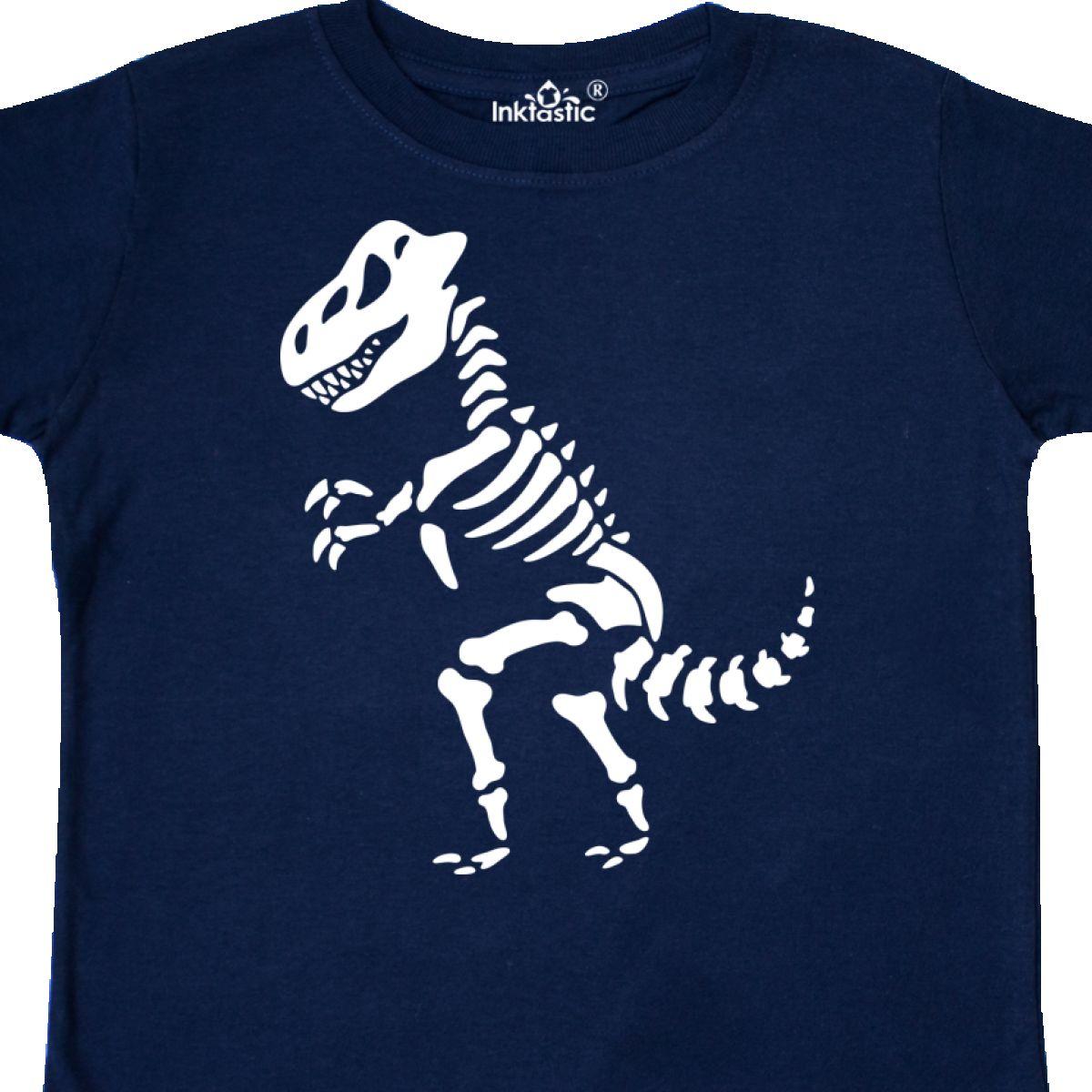 80c9ba3f Inktastic Dinosaur Skeleton Bones Funny Dino Toddler T-Shirt ...