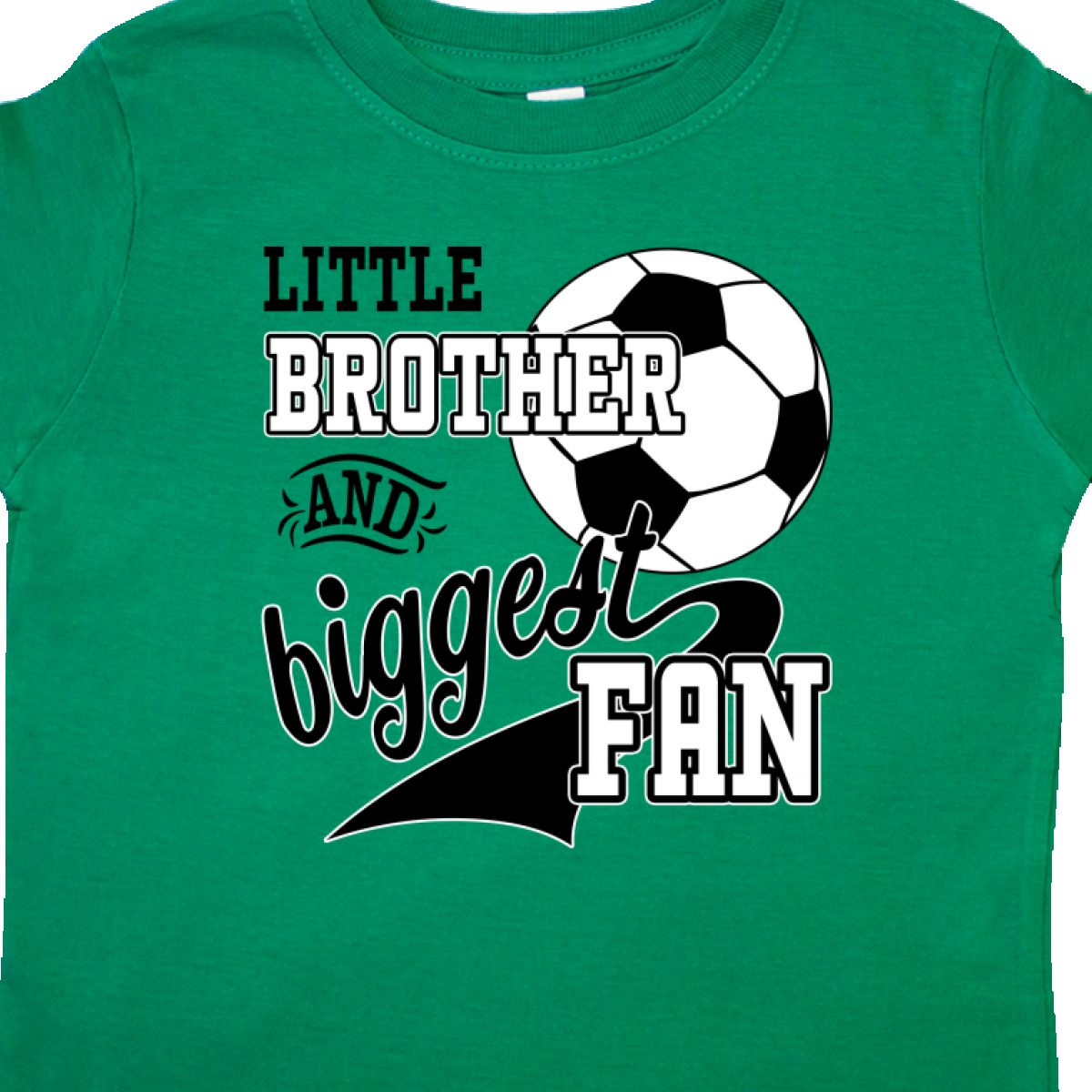 Inktastic-Little-Brother-And-Biggest-Fan-Soccer-Player-Toddler-T-Shirt-Sports thumbnail 6