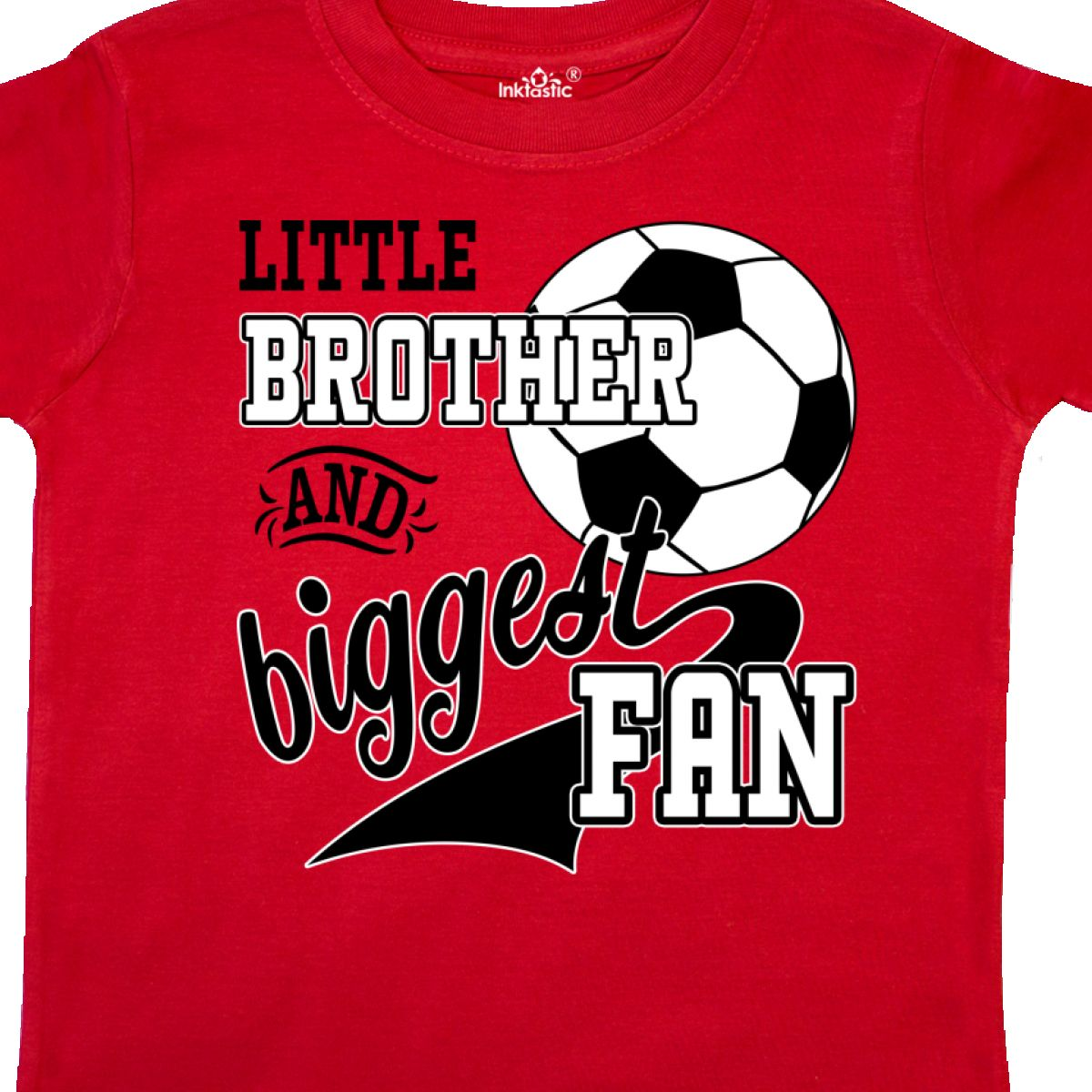 Inktastic-Little-Brother-And-Biggest-Fan-Soccer-Player-Toddler-T-Shirt-Sports thumbnail 14