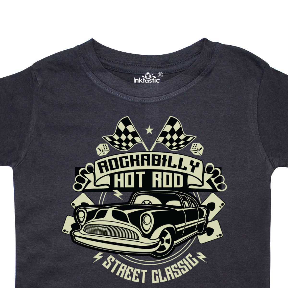 Inktastic-Rockabilly-Hotrod-Toddler-T-Shirt-Hot-Rod-Vintage-Car-Racing-Street thumbnail 4