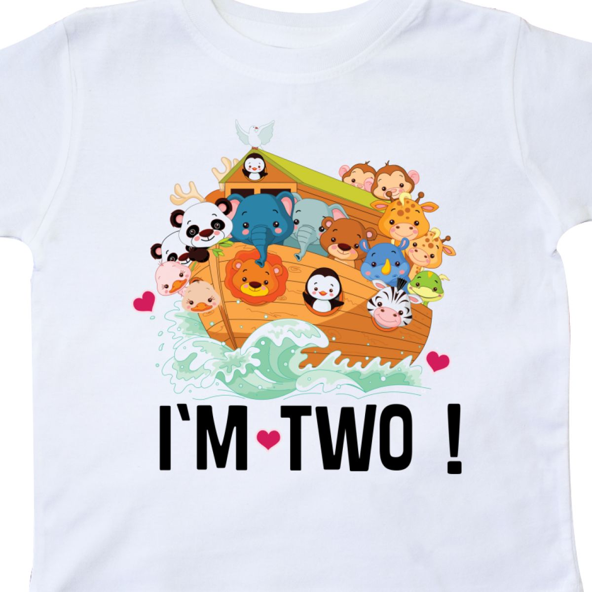 Details About Inktastic 2nd Birthday Party Animal Ark Toddler T Shirt 2 Year Old Two Cute Gift