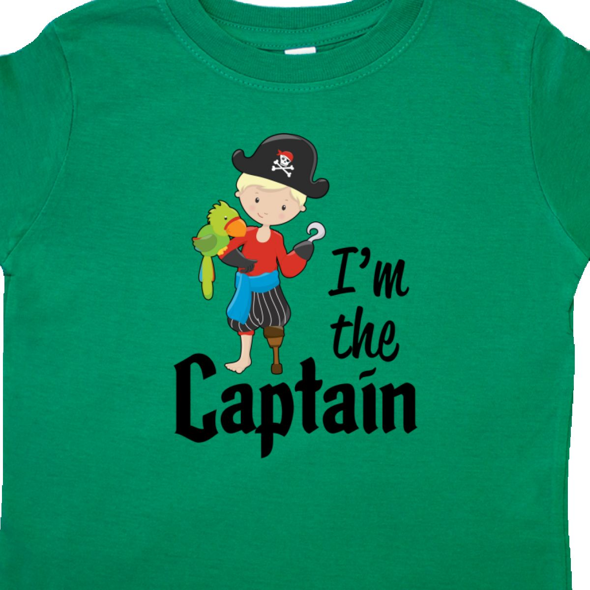 a1ca4423a Inktastic I'm The Captain- Pirate Boy Toddler T-Shirt Pirates In ...