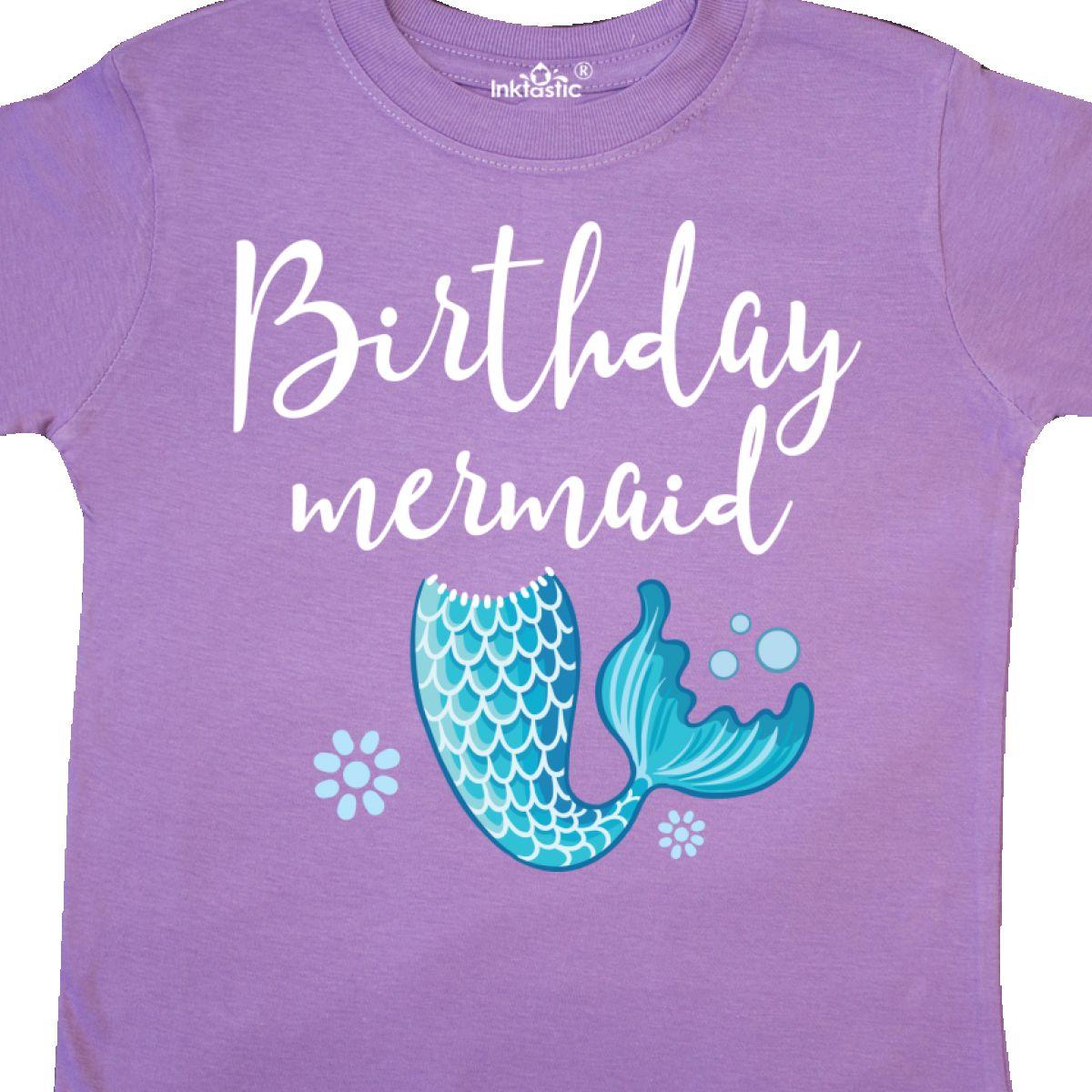 Inktastic Birthday Mermaid Girls Party Gift Toddler T
