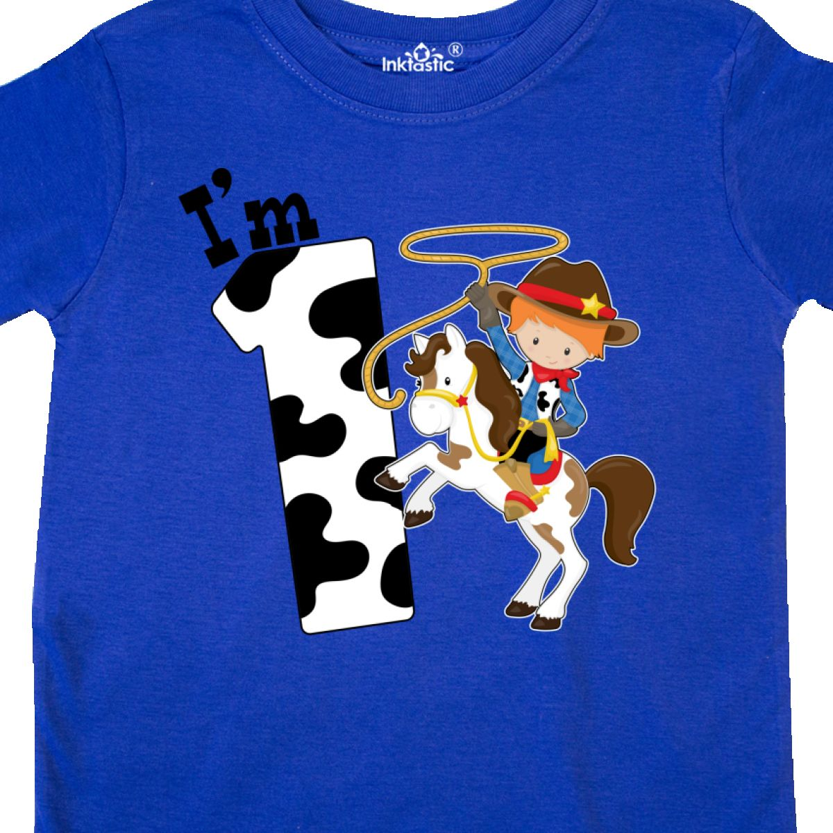 Inktastic I/'m One-cowboy Riding Horse Birthday Baby T-Shirt Birthdays First 1st