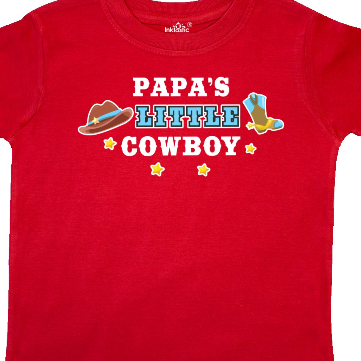 Inktastic-Papas-Little-Cowboy-With-Cowboy-Hat-And-Boots-Toddler-T-Shirt-Children thumbnail 4