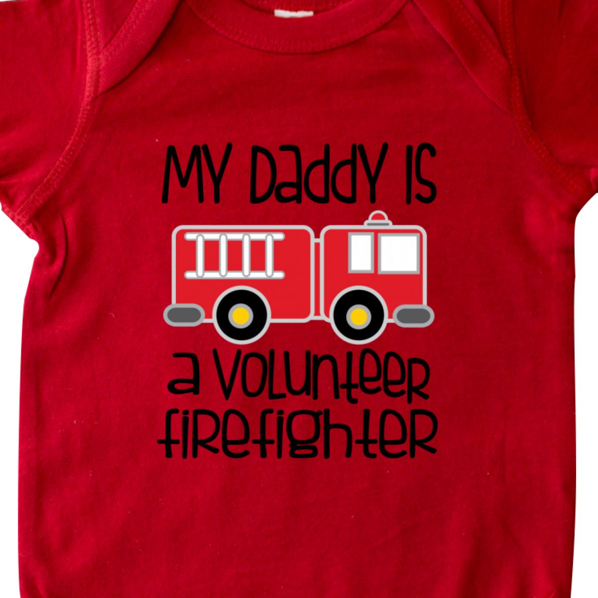 6947f4605 Inktastic Volunteer Firefighter Daddy Infant Creeper Dad One-piece ...
