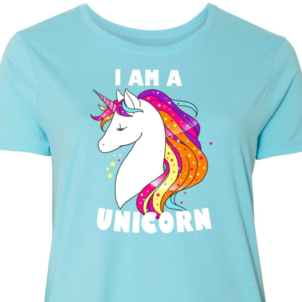 aa5dbf2dd24 Inktastic I Am A Unicorn With Unicorn Illustration Women s Plus Size ...