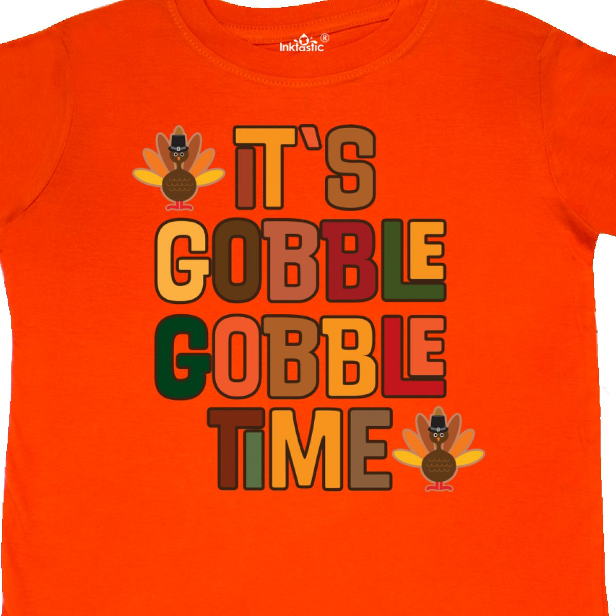 59f7df898 Inktastic Thanksgiving Gobble Time Turkey Toddler T-Shirt Holiday ...