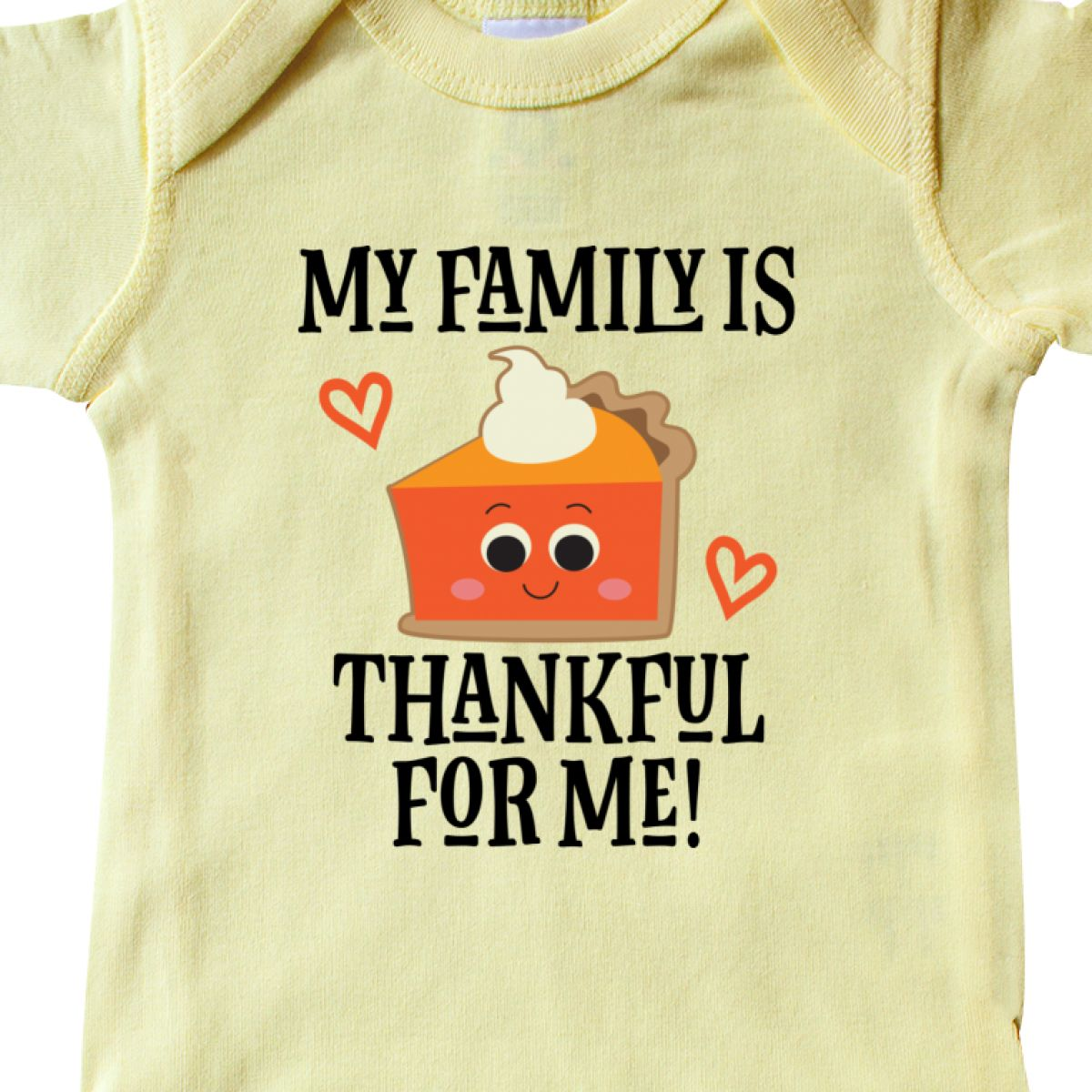 6082e8048 Inktastic Thanksgiving Outfit Thankful Family Infant Bodysuit 1st ...