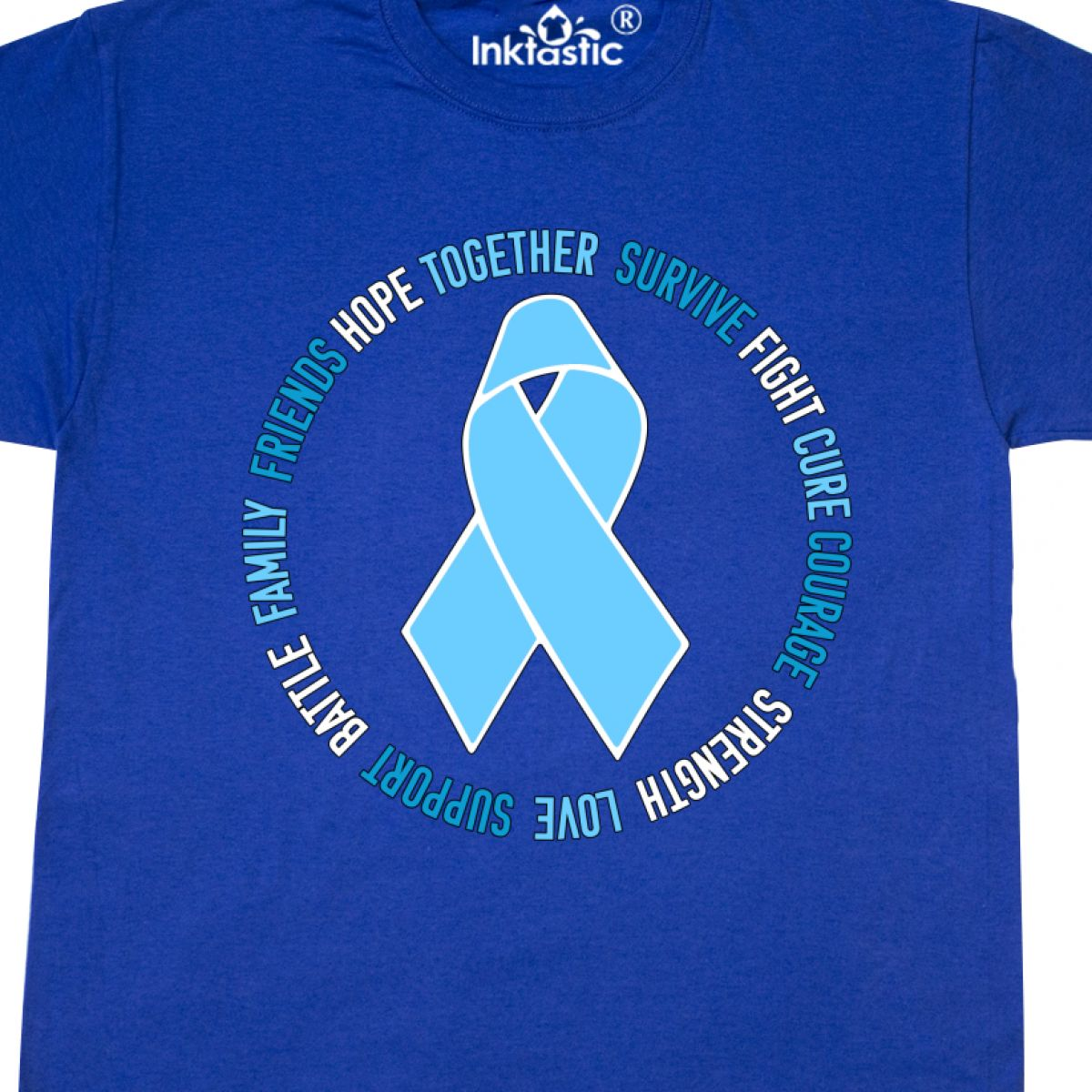 d91f9e97 Inktastic Word Circle-Prostate Cancer Awareness T-Shirt Prostate ...