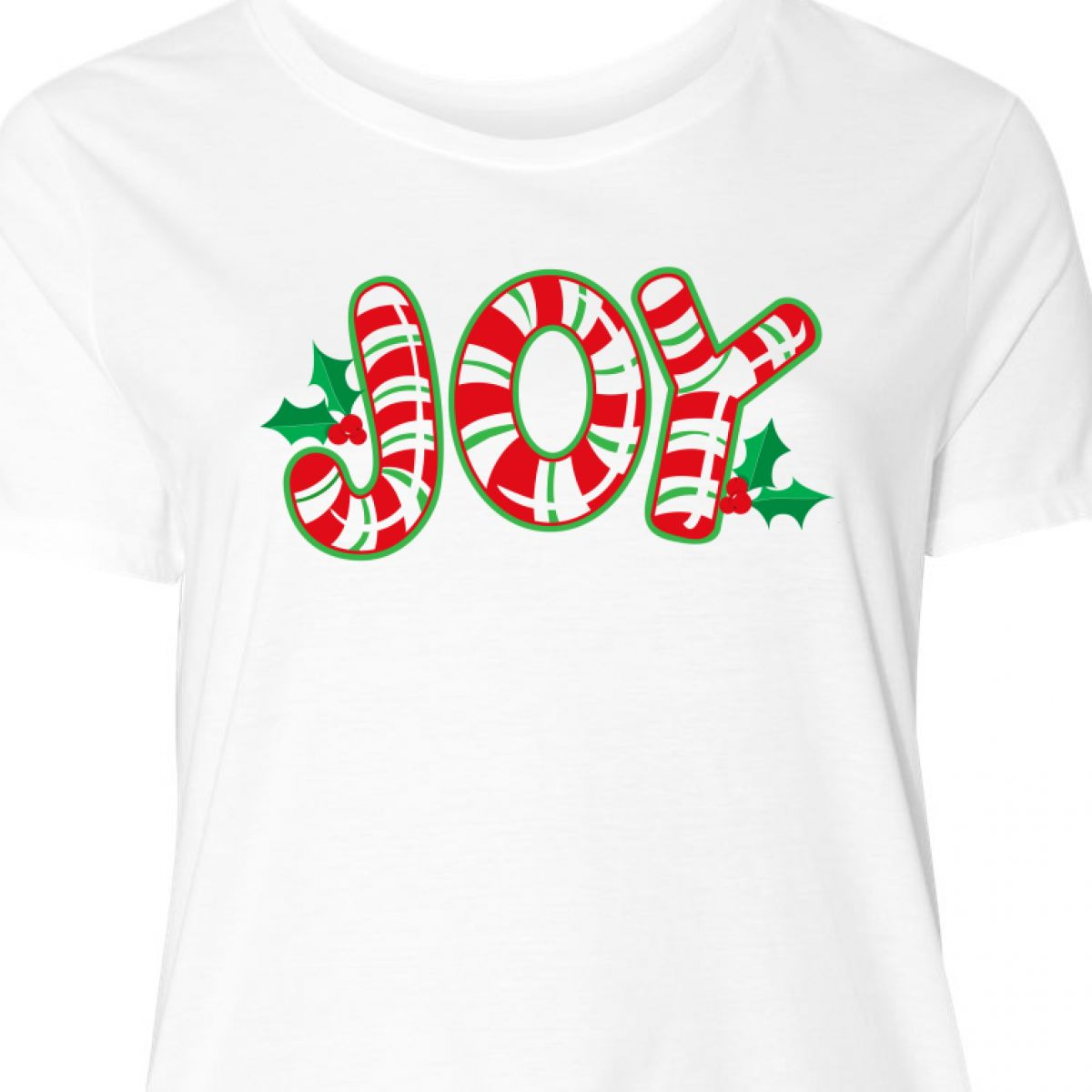 3b7bc719239 Inktastic Candy Cane Joy Women s Plus Size T-Shirt Christmas Holly ...
