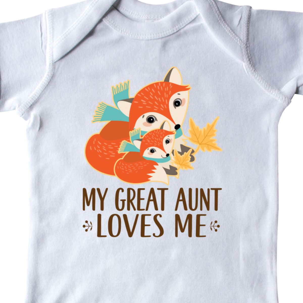 c325c50d Inktastic My Great Aunt Loves Me Fox Infant Creeper From Cute Childs ...