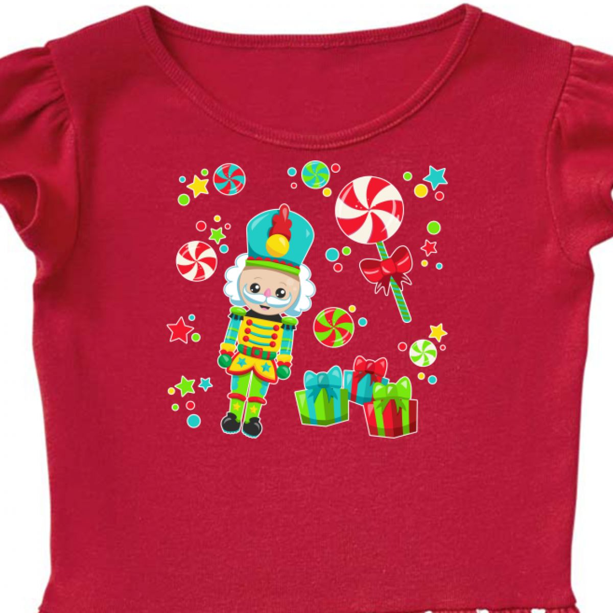 3811f4293 Inktastic Holiday Nutcracker And Candy For Christmas Toddler Dress ...
