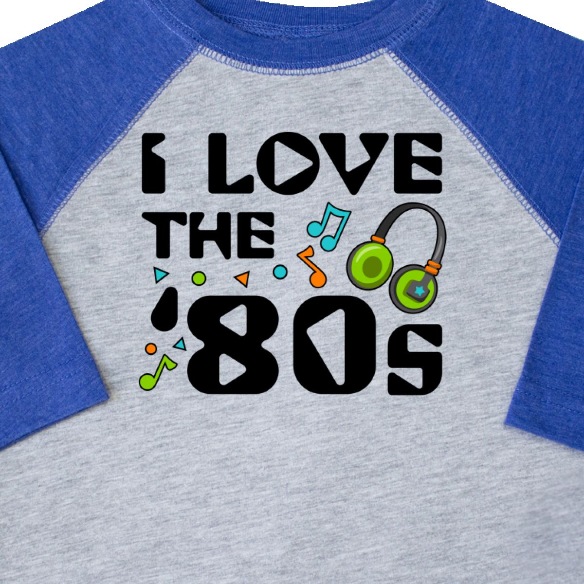 Inktastic-I-Love-The-039-80s-musical-Notes-Toddler-T-Shirt-80s-Eighties-Headphones thumbnail 4