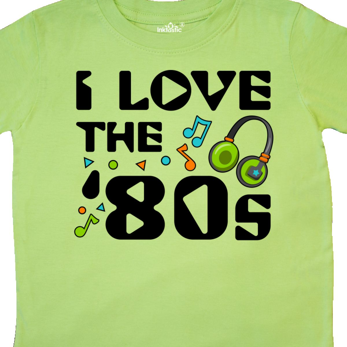 Inktastic-I-Love-The-039-80s-musical-Notes-Toddler-T-Shirt-80s-Eighties-Headphones thumbnail 8
