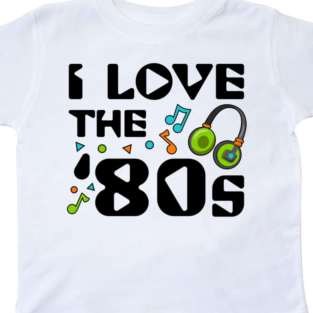 Inktastic-I-Love-The-039-80s-musical-Notes-Toddler-T-Shirt-80s-Eighties-Headphones thumbnail 12