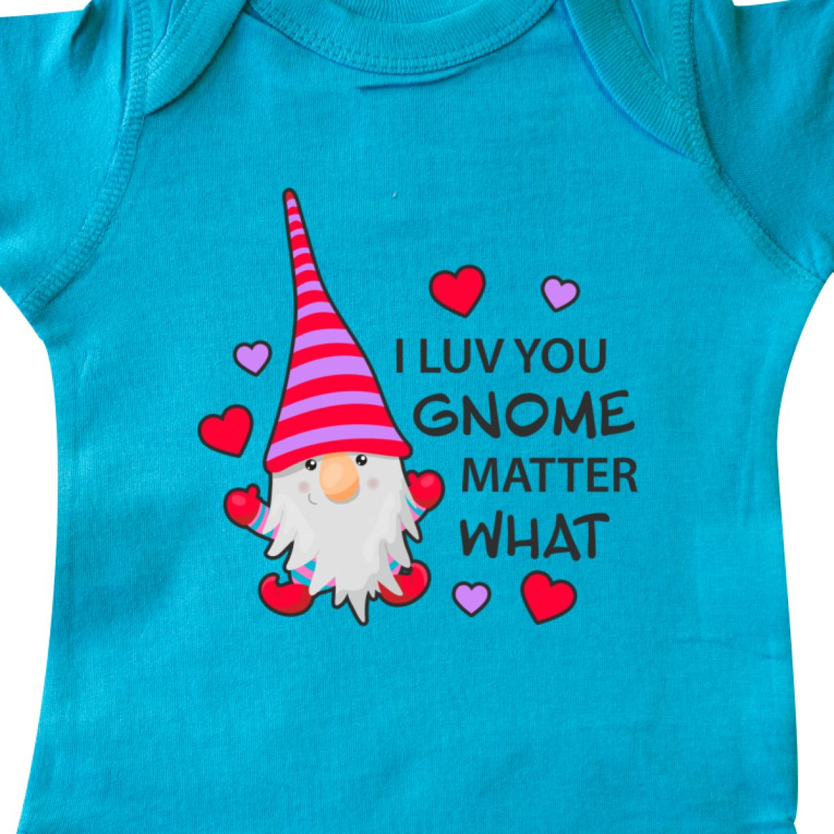 Inktastic-I-Luv-You-Gnome-Matter-What-With-Gnome-And-Hearts-Infant-Creeper-Love 縮圖 26
