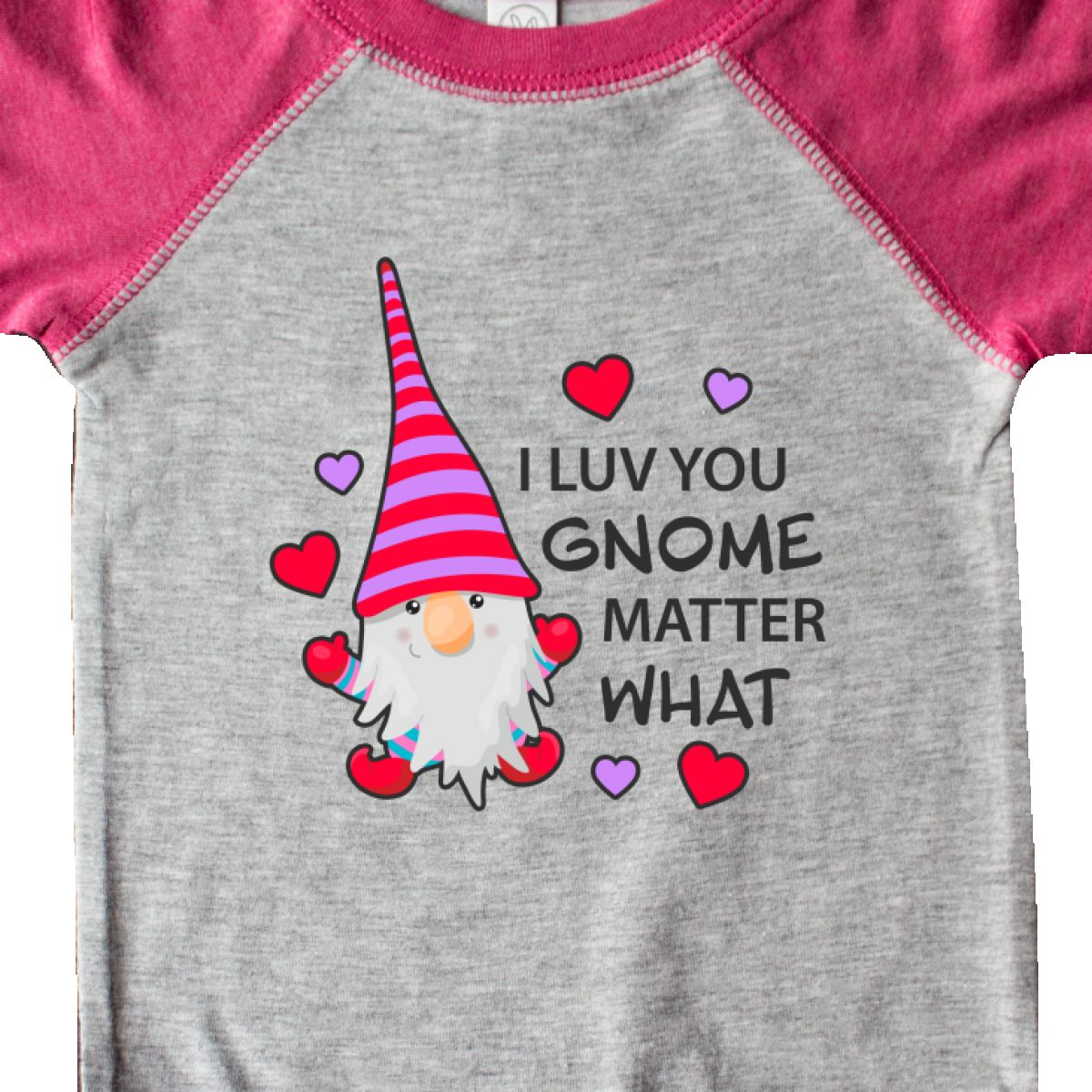 Inktastic-I-Luv-You-Gnome-Matter-What-With-Gnome-And-Hearts-Infant-Creeper-Love 縮圖 10